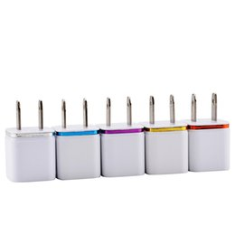 Wholesale Tablet Eu - High Quality Home Travel Charger US Plug Single USB 1A AC Adapter Wall Charger Plug 1 Port For Samsung Galaxy S7 LG Tablet iPad iPhone 6s