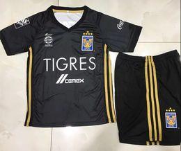 Wholesale Kids Shirt Tiger - 17 18 kids Mexico Club Monterrey UANL black Soccer jersey Kits 2017 Home White Away Tigers W.GARGANO Maillot De Foot child Football shirts