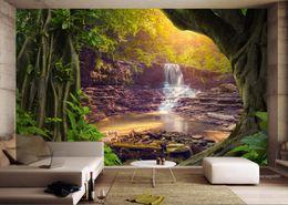 2019 fallen foto kulisse Benutzerdefinierte Tapeten Tapeten 3D TV Kulisse Sofa Bäume fällt Landschaft stereoskopische 3D Foto WallpaperFor Wohnzimmer Schlafzimmer rabatt fallen foto kulisse
