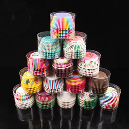 Wholesale Muffins Paper Tray - Colorful Cupcake Liner Baking Cup Paper Muffin Cases Cake Box Cup Tray Cake Mold Pastry Decorating Tools ZA4568