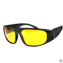 Wholesale Night Goggles For Driving - Wholesale- lunettes sun glasses for men Night Driving Sunglasses Brand Yellow Lense Night Vision Driving Glasses Goggle Black Frame Eyewear