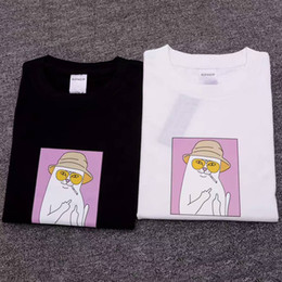 Wholesale Cool Long Women Shirt - RIPNDIP NERMAL T-Shirts Men Women New Cool Skateboard Tee White Black Short Sleeve Casual Tees Couples Lovers Hip Hop Shirts LLWG0704