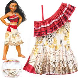Wholesale Kids Leopard Swimsuit - Baby Girls Dresses Moana Suspender Short Skirt Summer Children Swimsuit Beachwear New Kids Clothing Factory Free DHL 376
