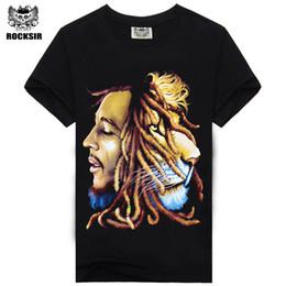 Wholesale Bob Marley T Shirts - Wholesale- High Quality Bob Marley Quotes Music Reggae Rastafari men's high quality tee t-shirt dress camisetas camisa clothing t shirt