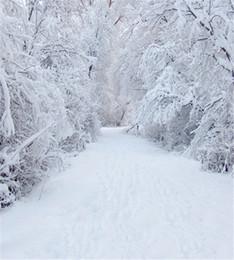 backdrops de fotografia ao ar livre Desconto 8x10ft Inverno Neve Cenários de Fotografia Estrada Branca Floresta Ao Ar Livre Scenic Natal Fundos de Férias para Estúdio de Fotografia