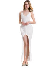 Wholesale Women S Pageant Dresses - New Evening Dresses 2017 Deep V-Neck Sweep Train Piping Side Split Modern Long Skirt Cheap Transparent Prom Formal Gowns Pageant Dress 8681