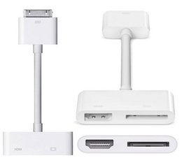 Wholesale Dock Hdmi Adapter Cable - Digital AV Adapter 30-Pin Dock Connector to HDMI with 30pin USB Charging Port for iPad 2 3 i 4 4S iPod