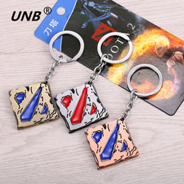 Wholesale Dota Figures - Dota 2 Logo Pendant Vintage Keychain dota2 Key Chain Figure Toy Jewelry Accessories Gift Keyring Keychains kids jewelry