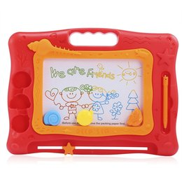 Wholesale boy tablet - Kids Magic Draw Sketch Tablet Board Toy Christmas Present with Pen Educational Toy Drawing Tablet Writing Board Puzzle Magic Color Pen