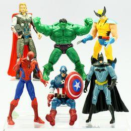 "Wholesale Red Hulk - The Avengers Marvel Hero Captain Iron Man the Hulk 7"" Action Figure Doll Toys Movie Carton hot 6 set"