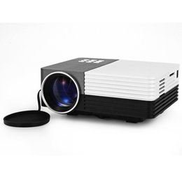 Wholesale Focus Vga - Wholesale-GM50 80LM 480 x 320 Pixels LCD Projector with HDMI VGA AV USB SD Card Slot Support IR Remote Control Manual Focus