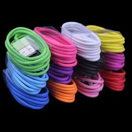 Wholesale mobile cords - 1m OD 2.55 ( OD 2.6 ) 3FT Colorful usb data charging Cable cord line for mobile phone 5 6 7 plus for samsung mp3 pc