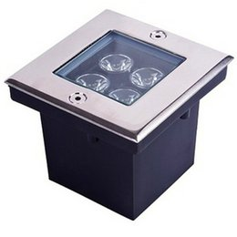 Wholesale Outdoor Led Floor Lights - 4*1W Squared Underground Lamp LED Buried Light WW NW CW AC85-265V Floor Outdoor Garden Plaza Lighting Stainless Steel