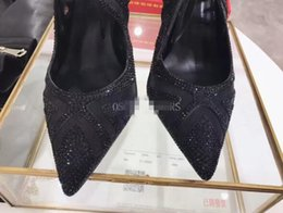 Wholesale Heels Leg Straps - 2017 European leg of the new spring and summer gauze diamond pointed strappy leather micro wedding with sexy sandals free shipping
