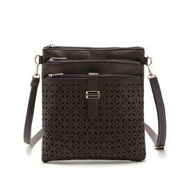 Wholesale Velvet Clutch Wholesale - 2017 Fashion Small Bag Women Messenger Bags Soft PU Leather Hollow Out Crossbody Bag For Women Clutches Bolsas Femininas Bolsa