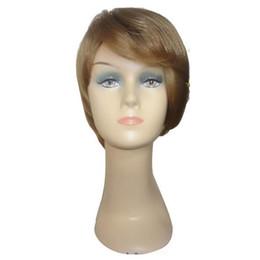 Rubio pelo sintético barato online-Pelucas de cabello sintético Barato Pelucas de cabello rubio corto Nuevas llegadas Peinados Peluca de alta calidad para hacerte fresco