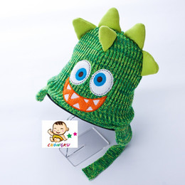 Wholesale Children Animal Crochet Beanies - Cartoon Baby Hats Fox Dinosaur Crochet Beanie Photography Props Winter Warm Children Hats Cute Animal Boys Girls Hat Baby Boys Clothing