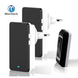 Chegada Nova Impermeável Smart Wireless Doorbell 1 Transmissor exterior + 2 Indoor Receiver Smart Home Campainhas + UE / EUA / Reino Unido / AU plug de