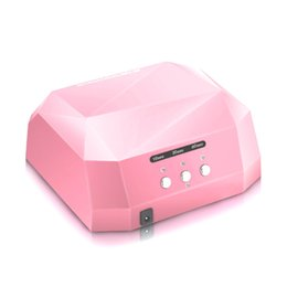 Wholesale Ultraviolet Curing Light - Wholesale- 2016 Led 36w 110v 220v Led Light Therapy Ultraviolet Lamp For Nail Art Dryer Gel Curing UV Lamp Nail Polish Drying Manicure Pink