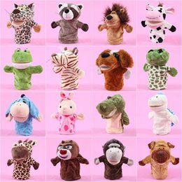 Wholesale Pink Rubber Doll - Animal wolf rabbit puppet monkey liger deer mouth active parent-child interaction finger doll gift