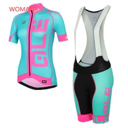Wholesale Red Women Cycling Jersey - ALE Woman Sportwear Bicycle Clothes Bike Clothing Cycling Jersey Racing Shirts Short Sleeve MTB maillot ciclismo F1501
