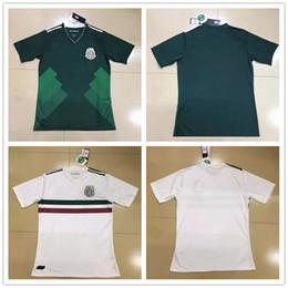 Wholesale Quality Custom Homes - CHICHARITO G.DOS SANTOS MARQUEZ Mexico Soccer Jerseys 2017 2018 Home Green Away White Custom Football Shirt Uniforms Top Thailand Quality