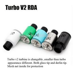Wholesale Genesis Mods - Wholesale- 20pcs DHL free Turbo V2 RDA Adjustable Airflow Rebuildable Dripping Atomizer Fit 510 Mod VS ORIGEN Genesis V2 taifun gt 2