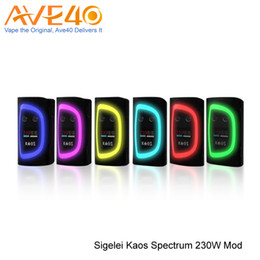 """Wholesale Vw Display - Authentic Sigelei Kaos Spectrum 230W Box Mod With 0.96"""" TFT Color Display VW TC Dual 18650 Battery Mod VS VOOPOO Drag"""