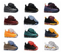 Wholesale Top High Cut Sneakers - 2017 Top Quality LBJ 15 Basketball Shoes Lebron shoe Arrival LBJ Sneakers 15s High Cut Mens Casual Shoes James 15 size US 7-12