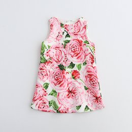 Wholesale Stylish Dresses For Girls - hugme Dresses Fashion Princess Dress Casual Dress For Girls Toddler Princess Dress Baby Cute Prints Girl Clothes Stylish Kids Party Dresses