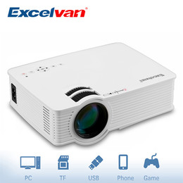 Wholesale flip usb - Wholesale- Excelvan GP9 EHD09 Portable Pico LED Projector 800x480 2000 Lumens Home Cinema HDMI USB SD AV Support 360 Degree Flip Beamer