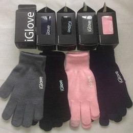 Wholesale Gloves For Ipad - Unisex iGlove Smart Gloves Capacitive Touch Screen Gloves for iphone 5 5C 5S ipad smart phone iGloves gloves With retail pack 1804003