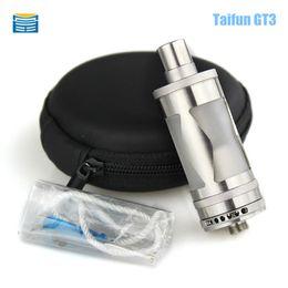 Wholesale E Cigarette V5 - Wholesale-Taifun GT III RDA RBA E Cigarette Atomizer Clone Pyrex Glass Tank Taifun gt3 Vaporizer fit 510 Box Mods VS EI BAAL kayfun v5 rda