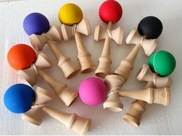 Wholesale Traditional Japanese Children Toys - Free New Big size 18*6cm Kendama Ball Japanese Traditional Wood Game Toy Education Gift Children toys 6 colors
