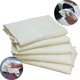 Wholesale Leather Chamois Cloth - Drying Cleaning Towe Car Natural Drying Chamois Deerskin Cleaning Cham Genuine Leather Cloth DXY