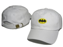 Wholesale marvel hats - Fashion Hot Sale Men Snapback Marvel Batman Superman Baseball Caps Women Marvel Batman Superman Embroidery Hip Hop Hats