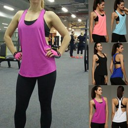 Wholesale Sexy Workout Wear - Summer Women's Sexy Workout Singlet Active Fitness Sleeveless Wear Yoga Sports Running Workout Gym Vest Top Tank