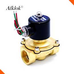 Wholesale Gas Solenoid Valve - 2W-200-20 Brass normally closed direct acting diaphragm 3 4 inch shutoff water Electric valve natural gas solenoid valve
