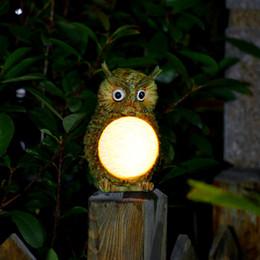 Wholesale Led Garden Owl - Solar Owl LED Light Garden Home Yard Decor Outdoor Light Statue Lamp