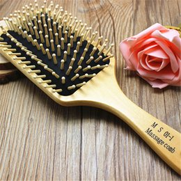 Wholesale Wooden Hairbrushes - 2016Most Popular Massage Hair Brush Hairbrush Paddle Brush Wooden Comb Makeup Tangle Styling Tools 25*8CM FREE SHIPPING