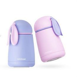 Wholesale Girls Thermos - Wholesale- 350 500ML Cute Cartoon garrafa termica thermo mug Thermos Stainless Steel Vacuum Flask for Kids Girls Men Water Bottle