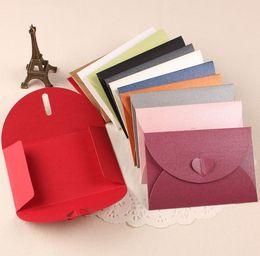 Wholesale Colored Invitation Envelopes - Wholesale- Top Fashion 10 Piece Colored Envelopes For Invitations Weeding Envelope 105mm*72mm Wedding Invitation Envelope