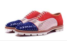 Argentina 2017 zapatos de los hombres de moda spike stud sneakers lace up low top patchwork cuero holgazán zapatillas de tacón grueso boda zapatos masculinos supplier low heeled shoes for wedding Suministro