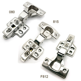 Wholesale Stainless Steel Kitchen Cabinets Wholesale - New Stainless steel Door hinge Hydraulic type buffer spring Door hinge Cabinet Kitchen Hidden hinges Damper 10pcs  lot