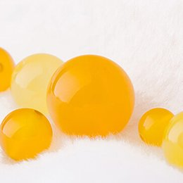 Wholesale Necklaces Yellow Stone - 20pcs lot Fashion Round Yellow Agate beads stone Natural Loose Stone Beads Diy Bracelet Necklace Jewelry Making Free shipping