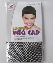 Wholesale Wig Caps Wholesale - NEW Fishnet Wig Cap Stretchable Elastic Hair Net Snood Wig Cap Black Color Hair Net Wig Net Free Shipping Fishnet Weaving
