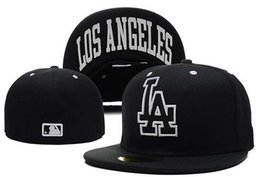 Wholesale Dodger Caps - Dodgers Fitted Hats Baseball Hats Team Dodgers Baseball Cap Size Fit Sport Team Casquette Fast Shipping