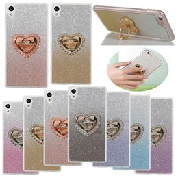 Wholesale Iphone Finger Ring Case - For LG Stylo 3 G6 k10 2017 Diamond Bling Finger Ring TPU Case for iPhone 8 7 6 6s Plus Samsung Galaxy Note 8 S8 Plus ZTE Zmax Pro Sony OPP