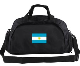 Wholesale Nice Girls Boys - Argentina duffel bag Nice multi function tote Country flag backpack Football luggage Sport shoulder case Outdoor sling handbag
