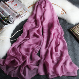 Wholesale Chiffon Big Shawl - 180cm*110cm silk chiffon scarf long and big scarf thin and soft